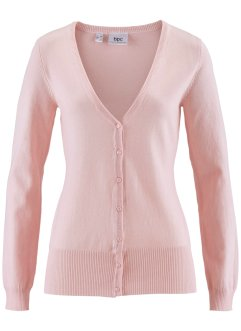 Gilet basique en maille, bpc bonprix collection, rose nacré