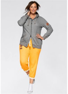 Pantalon sweat longueur 7/8, bpc bonprix collection, jaune soleil chiné