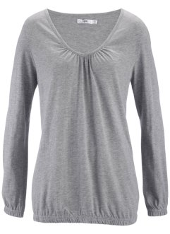 T-shirt manches longues, bpc bonprix collection, gris chiné
