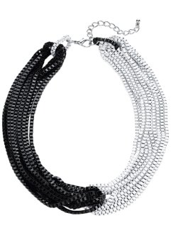 Collier ras du cou, bpc bonprix collection, noir/blanc