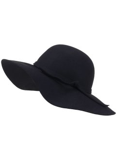 Chapeau à larges bords, bpc bonprix collection, noir