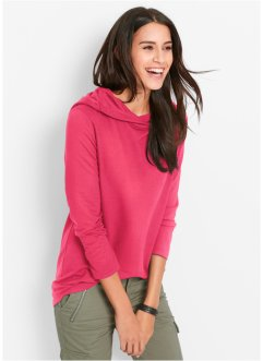 Sweat-shirt manches longues, bpc bonprix collection, rose hibiscus