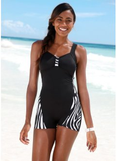 Maillot de bain, bpc bonprix collection, noir/blanc