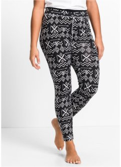 Legging fonctionnel long, bpc bonprix collection, noir à motif