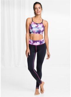 Top de sport + Leggings, bpc bonprix collection, noir imprimé