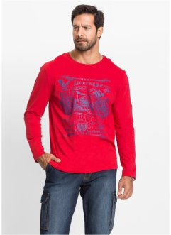 T-shirt manches longues Regular Fit, John Baner JEANSWEAR, rouge