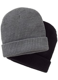 Bonnet en tricot homme (Ens. 2 pces.), bpc bonprix collection