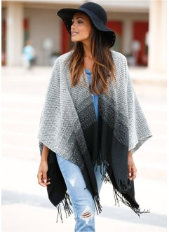 Poncho noir/blanc, bpc bonprix collection