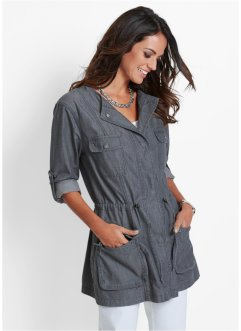 Veste longue en jean, bpc selection, gris denim