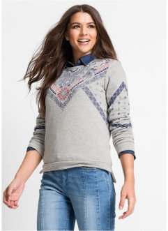 Sweat-shirt imprimé, John Baner JEANSWEAR