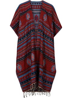 Poncho Boho, bpc bonprix collection, rouge/multi