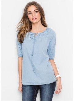 tunique en jean manches 34 john baner jeanswear bleu clair - Tunique Colore Femme