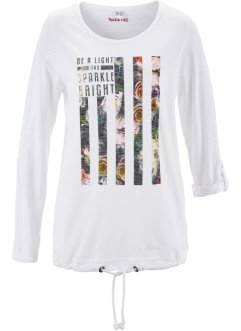T-shirt à imprimé floral - designed by Maite Kelly, bpc bonprix collection, blanc imprimé
