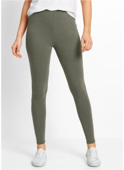 Lot de 2 leggings extensibles, bpc bonprix collection, olive+noir