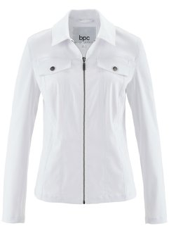 Veste bengaline à empiècements côtelés, bpc bonprix collection, blanc