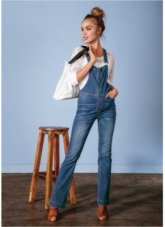 Salopette en jean bootcut, RAINBOW, raw denim