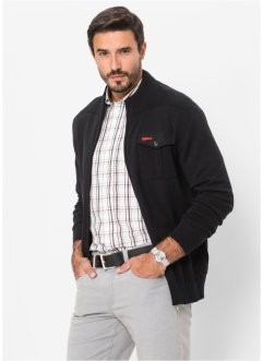 Gilet en maille Regular Fit, bpc selection, noir