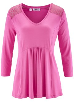 T-shirt-tunique, bpc bonprix collection, fuchsia clair