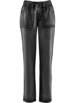 Pantalon cargo extensible, bpc bonprix collection, noir