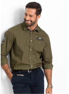 Chemise Regular Fit, bpc selection, vert kaki