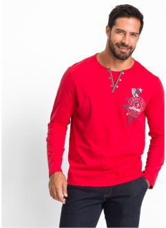 T-shirt manches longues Regular Fit, bpc selection, rouge