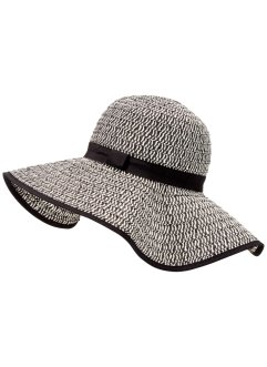 Chapeau, bpc bonprix collection, noir/blanc