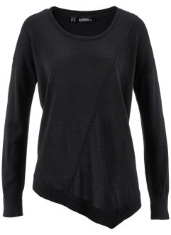 Pull en maille fine, bpc bonprix collection, noir