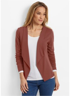 Blazer matière sweat, bpc bonprix collection, marron marsala
