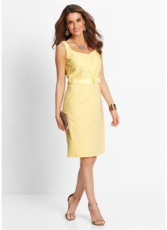 Robe en lin, bpc selection premium, jaune clair