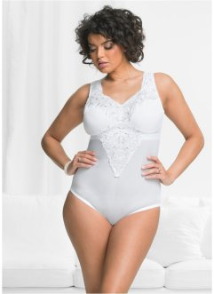 Body de maintien sans armatures, bpc selection, blanc/argent mat