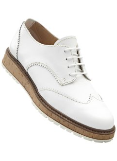 Derbies en cuir, RAINBOW, blanc