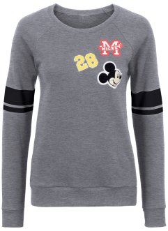 Sweat-shirt avec patchs, Disney, gris clair chiné