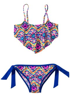 Bikini fille (Ens. 2 pces.), bpc bonprix collection, jaune/bleu