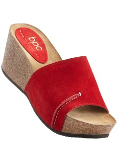 Mules à plateau cuir, bpc bonprix collection, rouge