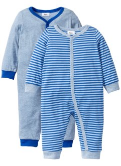 Lot de 2 grenouillères bébé en coton bio, bpc bonprix collection