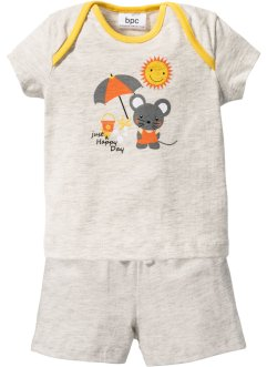 T-shirt bébé + short (Ens. 2 pces.) coton bio, bpc bonprix collection