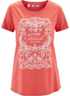 T-shirt demi-manches, bpc bonprix collection, corail imprimé
