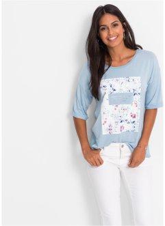 T-shirt imprimé, BODYFLIRT, bleu poudré imprimé
