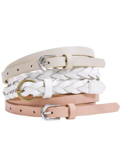 Set de ceintures, bpc bonprix collection, beige/rose saumon/blanc