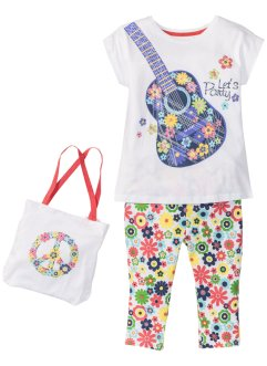 T-shirt + legging corsaire + sac (Ens. 3 pces.), bpc bonprix collection