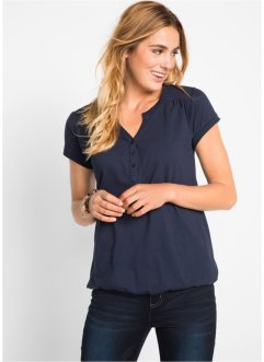 T-shirt avec patte de boutonnage, bpc bonprix collection