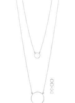 Collier long & boucles d'oreilles (Ens. 5 pces.), bpc bonprix collection