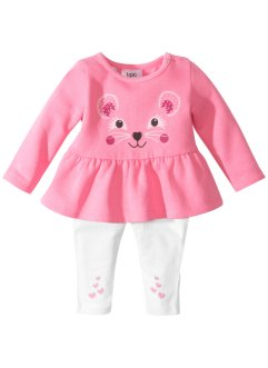 Robe sweat bébé + legging (Ens. 2 pces.) coton bio, bpc bonprix collection