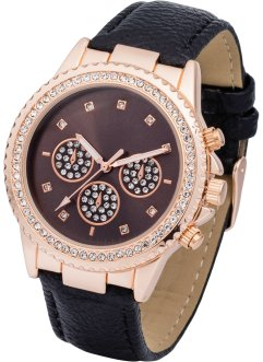 Montre-bracelet avec strass, bpc bonprix collection