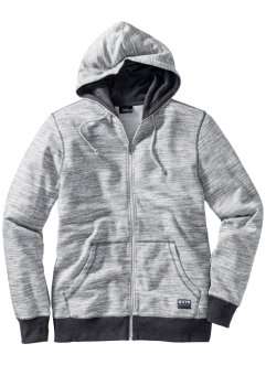 Gilet sweat à capuche chiné, bpc bonprix collection
