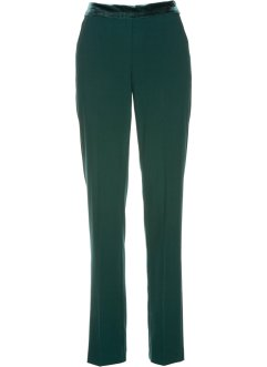 Pantalon à empiècement taille en velours, bpc selection