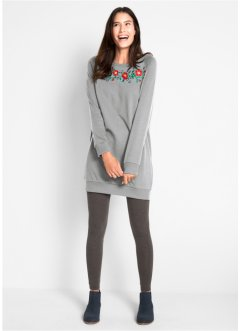 Robe sweat avec broderie, bpc bonprix collection