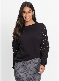 Sweat-shirt avec perles, BODYFLIRT