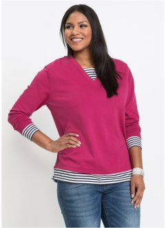 Sweat-shirt style 2 en 1, manches longues, John Baner JEANSWEAR