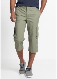 Pantalon cargo extensible 3/4 avec taille côtelée Regular Fit, bpc bonprix collection